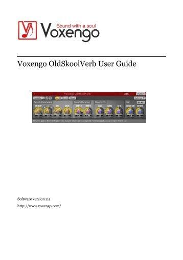 Voxengo OldSkoolVerb User Guide