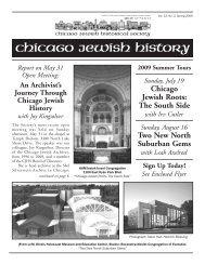chicago jewish history - Chicago Jewish Historical Society