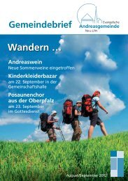 August/September 2012 - Andreasgemeinde - telebus.de