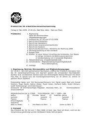 Protokoll der 30. ordentlichen Generalversammlung Freitag 6. März ...
