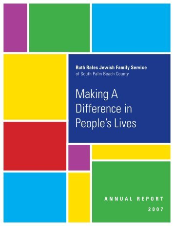 Making A Difference in People's Lives - Ruth Rales Jewish Family ...