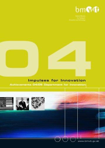 Impulses for Innovation