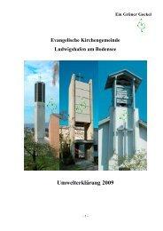 Umwelterklärung 2009 - Evangelische Landeskirche in Baden