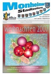 zur letzten Ausgabe - Stadt Monheim