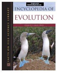 Encyclopedia of Evolution.pdf - Online Reading Center