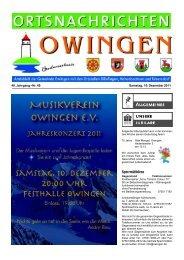 Sperrmüllbörse - Gemeinde Owingen