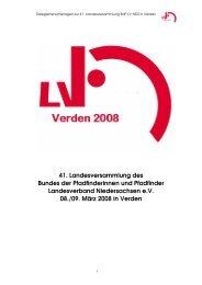 LVHeft 2008 Version 1.3 - BdP - Landesverband Niedersachsen