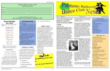 Things to Do - Palmetto Ballroom Dance Club
