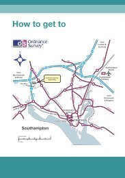 ordnance survey head office travel directions