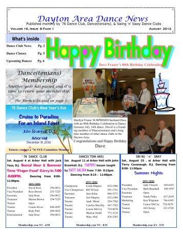 16 08 August 2012 Newsletter - Ballroom Dance Dayton