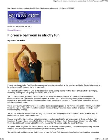 to read our 'Morning News' article - Palmetto Ballroom Dance Club