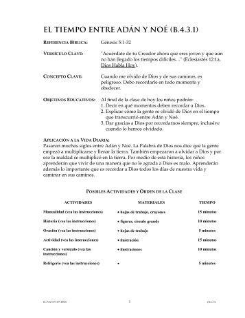 EL TIEMPO ENTRE ADÁN Y NOÉ (B.4.3.1)