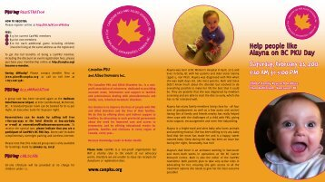 Saturday, February 23, 2013 9:30 AM to 5:00 PM - Canadian PKU ...