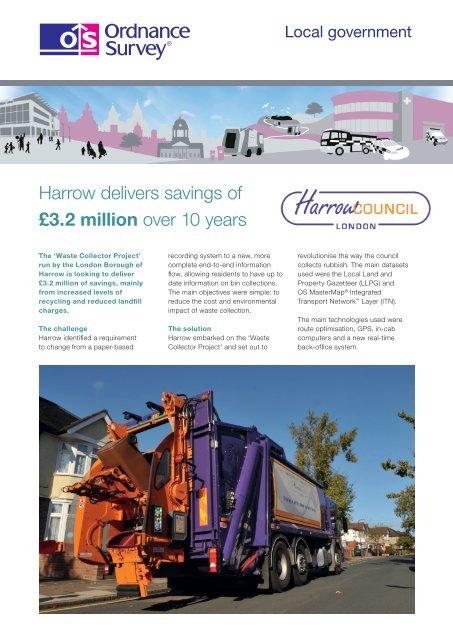 Harrow delivers savings of £3.2 million over 10 ... - Ordnance Survey