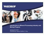 Introduction to Mineral Processing Industry and Mining ... - SICAP
