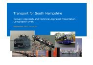 Publication of TfSH Transport Delivery Plan Development Presentation