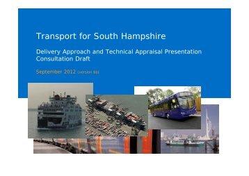 Publication of TfSH Transport Delivery Plan Development Presentation