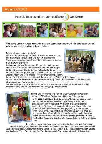 Newsletter 2012-02 - das generationenzentrum
