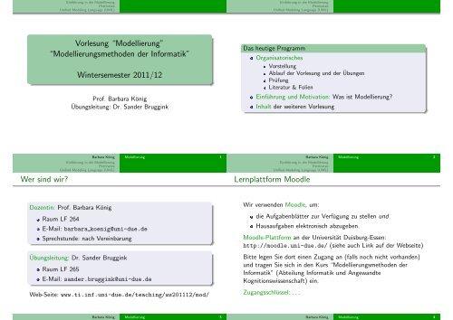Modellierung - an der Universität Duisburg-Essen