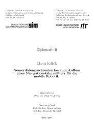 Diplomarbeit - Fachgebiet Simulation, Systemoptimierung und ...