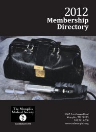 Membership Directory - The Memphis Medical Society