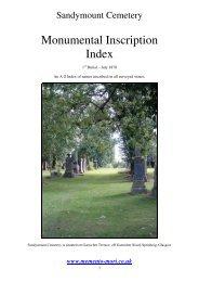 Monumental Inscription Index - Memento Mori