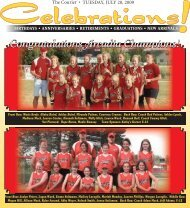 TUESDAY, JULY 28, 2009 The Courier • - Courier Electronic Edition