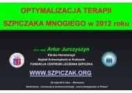 Optymalizacja terapii szpiczaka mnogiego w 2012 roku - Fundacja ...