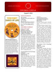 DANCE OF LIFE - Crimson Circle