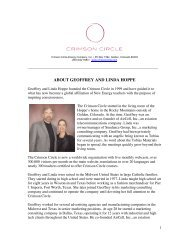 About Geoffrey & Linda Hoppe - Crimson Circle