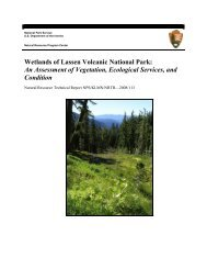 Wetlands of Lassen Volcanic National Park - NPS Inventory and ...