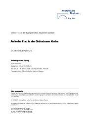 Rolle der Frau in der Orthodoxen Kirche - Evangelische Akademie ...