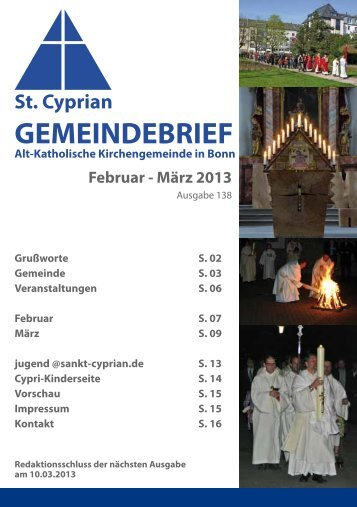 GEMEINDEBRIEF - Alt-Katholiken