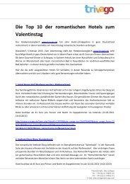 Die Top 10 der romantischen Hotels zum Valentinstag - Trivago.com