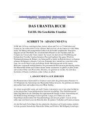 Das Urantia Buch - Schrift 74 - Adam und Eva