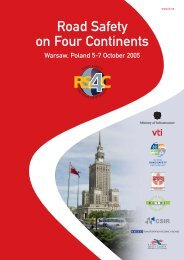 Road safety on four continents 2005 in Warsaw - VTI