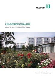 Qualitätsbericht 2009 - MediClin Reha-Zentrum Bad Düben