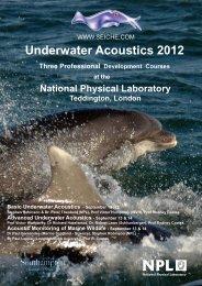 Underwater Acoustics 2012 Three Professional ... - Seiche