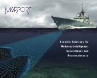 Acoustic Solutions for Undersea Intelligence ... - Marport.com