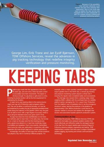 Keeping Tabs - T.D. Williamson, Inc.