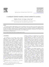 A multipole Galerkin boundary element method for acoustics - Ensta