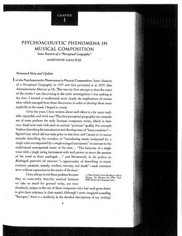 PSYCHOACOUSTIC PHENOMENA IN MUSICAL COMPOSITION