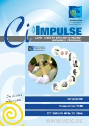 CI-IMPULSE, Ausgabe 3-2010 - HCIG