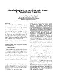 Coordination of Autonomous Underwater Vehicles for Acoustic ...
