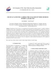 Use of an Acoustic Camera for Analysis of - Alps Adria Acoustics ...
