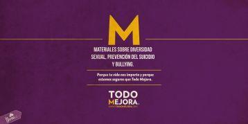 MATERIALES SOBRE DIVERSIDAD SEXUAL, PREVENCIÓN DEL SUICIDIO Y BULLYING.