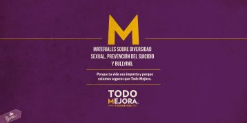 MATERIALES SOBRE DIVERSIDAD SEXUAL, PREVENCIÓN DEL SUICIDIO Y BULLYING.