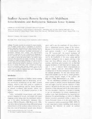 Seafloor Acoustic Remote Sensing with Multibeam - The Center for ...