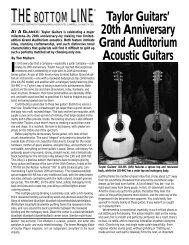 Taylor 20th Anniversary Guitars - Tom Mulhern & Associates