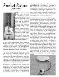 Product Reviews - miller acoustic guitar equipment